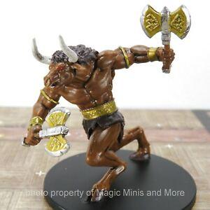 Minotaur D/&D Miniature Dungeons Dragons Pathfinder Omens warrior barbarian 28 Z