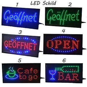 led open ge ffnet schild leuchtschild xxl reklame leuchtreklame werbung display ebay. Black Bedroom Furniture Sets. Home Design Ideas