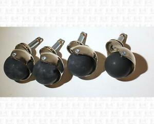 Kustom-Ball-Style-Guitar-Amp-Speaker-Casters-Wheels-Set-Of-Four-NO-SOCKETS