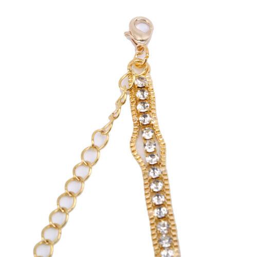 Fashion Adjustable Crystal Rhinestones Diamante Bra Straps Bridal Costume DS