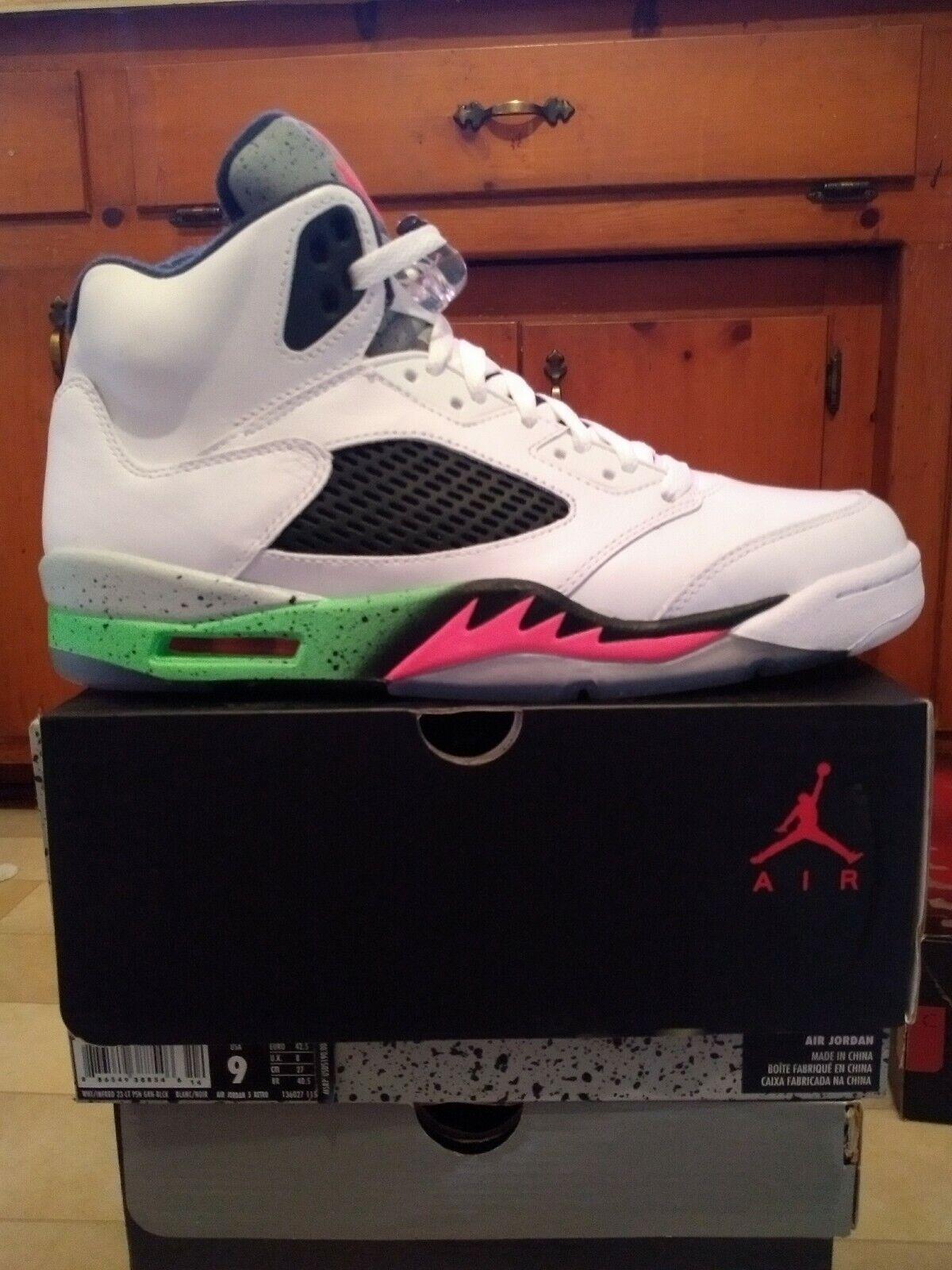 Jordan 5 Poison Infrared White Size 9 DS