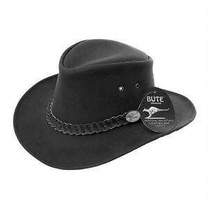 belles chaussures prix d'usine en ligne Détails sur Chapeau Homme en Cuir Cowboy Australien Bush stetson noir  marron- afficher le titre d'origine