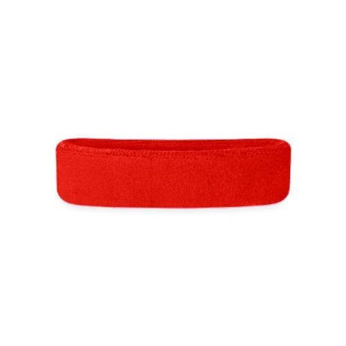 "All Sports Sweat Headband VKM Deluxe Soft Cotton 2/""x7/"" Runners Workout RED"