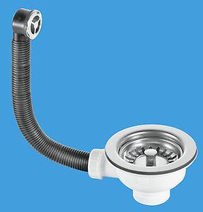 Mcalpine Kitchen Sink Strainer Waste Overflow Set 113mm Flange Fits 90mm Hole Ebay