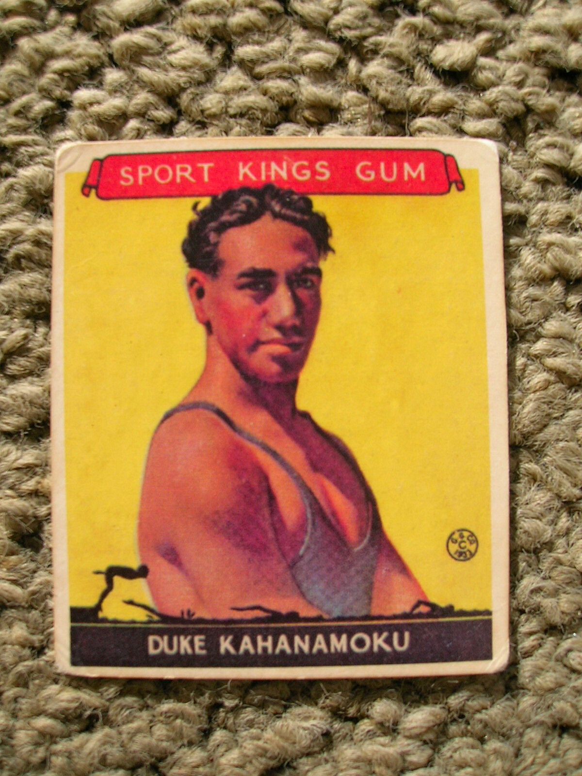 Duke Kahanamoku 1933 sport kings gum card surfing surfboard surfer surf