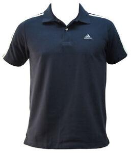 ADIDAS-3S-CR-Ess-Herren-Polo-Shirt-Hemd-Dunkelblau-Poloshirt-Essential