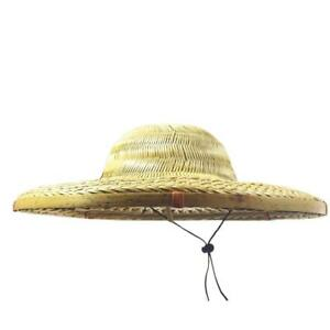 Traditional Chinese Oriental Bamboo Straw Cone Garden Fishing Rice Hat