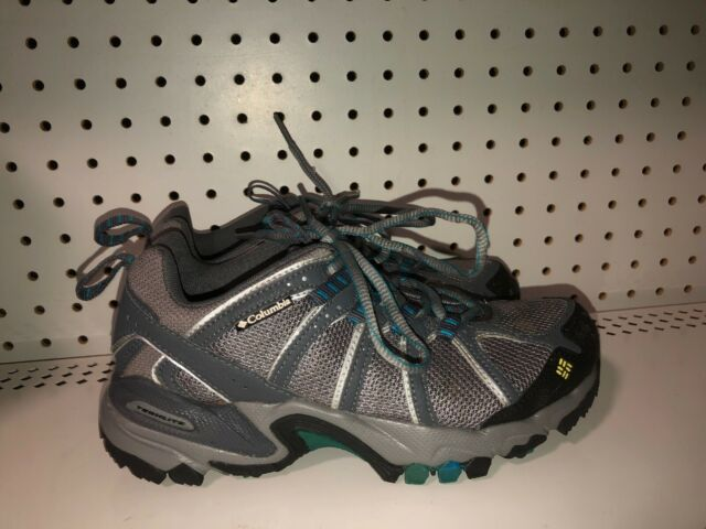 Columbia Romero Womens Athletic Hiking Trail Running Shoes Size 6.5 Gray Blue