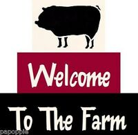 Stencil Welcome To The Farm Pig Country Cottage Blocks Free Shipping