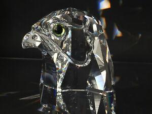 Swarovski - XXL Figur -Falke Adler Falken-Kopf - 010064 von 1991 - 10cm 1,2 Kilo