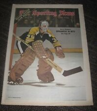 1972 Gerry Cheevers Boston Bruins - The Sporting News Magazine - No Label
