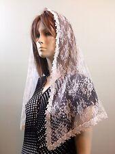 Ivory cream veils and mantilla Catholic church chapel scarf lace Mass latin IVFL
