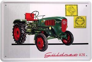 g ldner a2k traktor bulldog schlepper metallschild 20x30. Black Bedroom Furniture Sets. Home Design Ideas