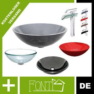 glas waschbecken ohne berlauf 5 modelle 42 cm breite waschtisch neu rea. Black Bedroom Furniture Sets. Home Design Ideas