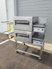 Lincoln Impinger 1116 Double Deck Conveyor Pizza Oven Belt Width 18