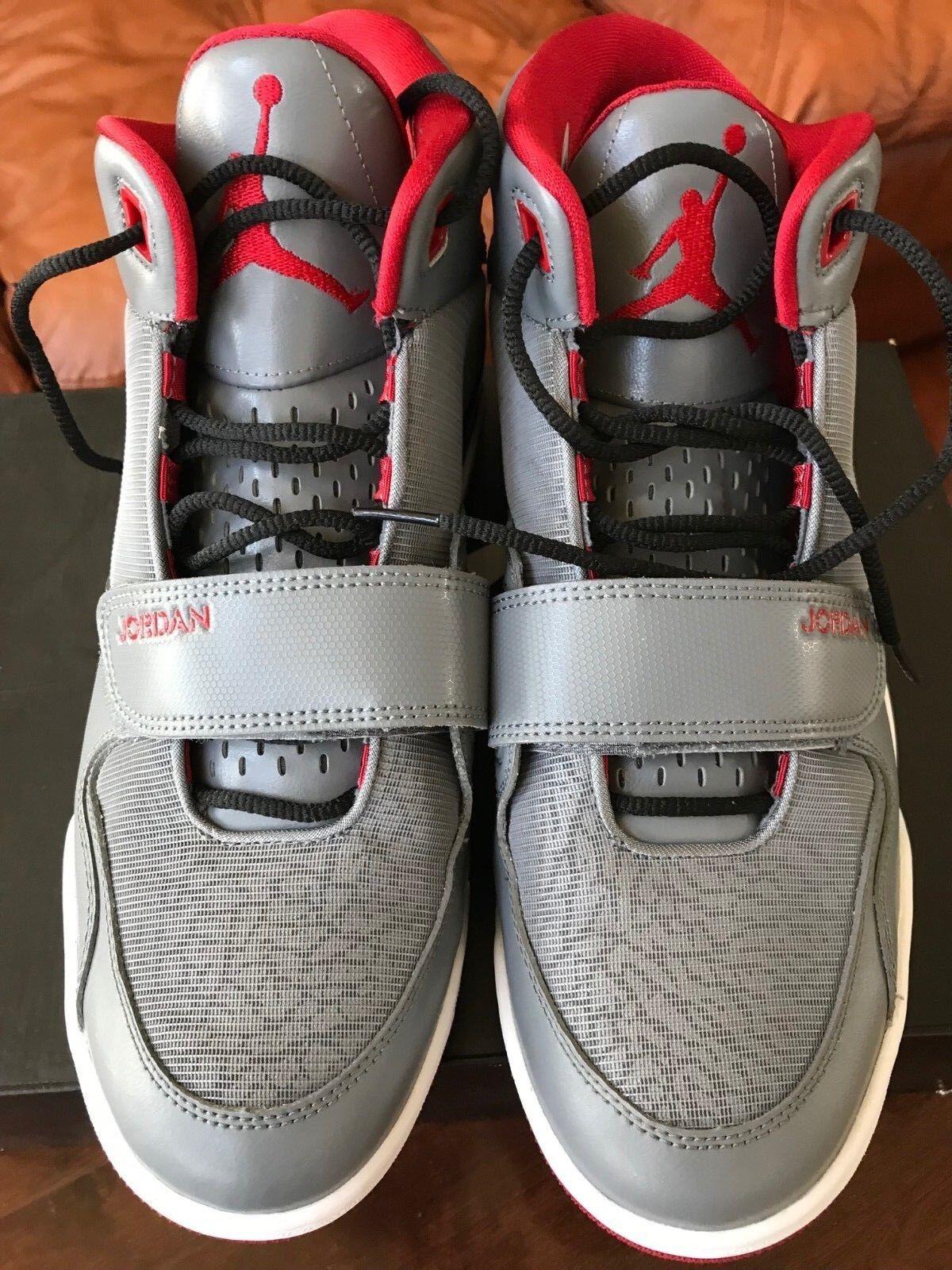 Nike Jordan Fltclb 90's Cool Grey Gym Red Black White 602661 022 SZ11 Origs $120