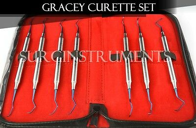 Titanium Coated Wax Carving Set With Zipper Case - Medical Dental Surgical