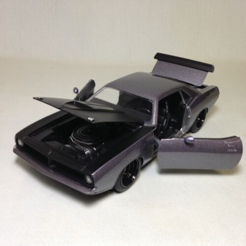 1973 Plymouth Barracuda, 8.25 Diecast, 1:24 Scale, Collectible, Jada Toy, Black