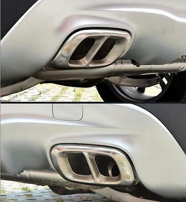 Stainless Dual Exhaust Pipe Sticker Trim For Mercedes Benz GLC Class 2017 2018