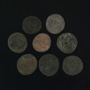 Lote De 8 Mezcladas Antiguo Monedas Romano Artifacts Figural