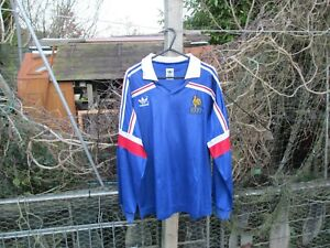 b48a4efa0 Vintage Authentic adidas France World Cup 1986 Home M Football Shirt ...