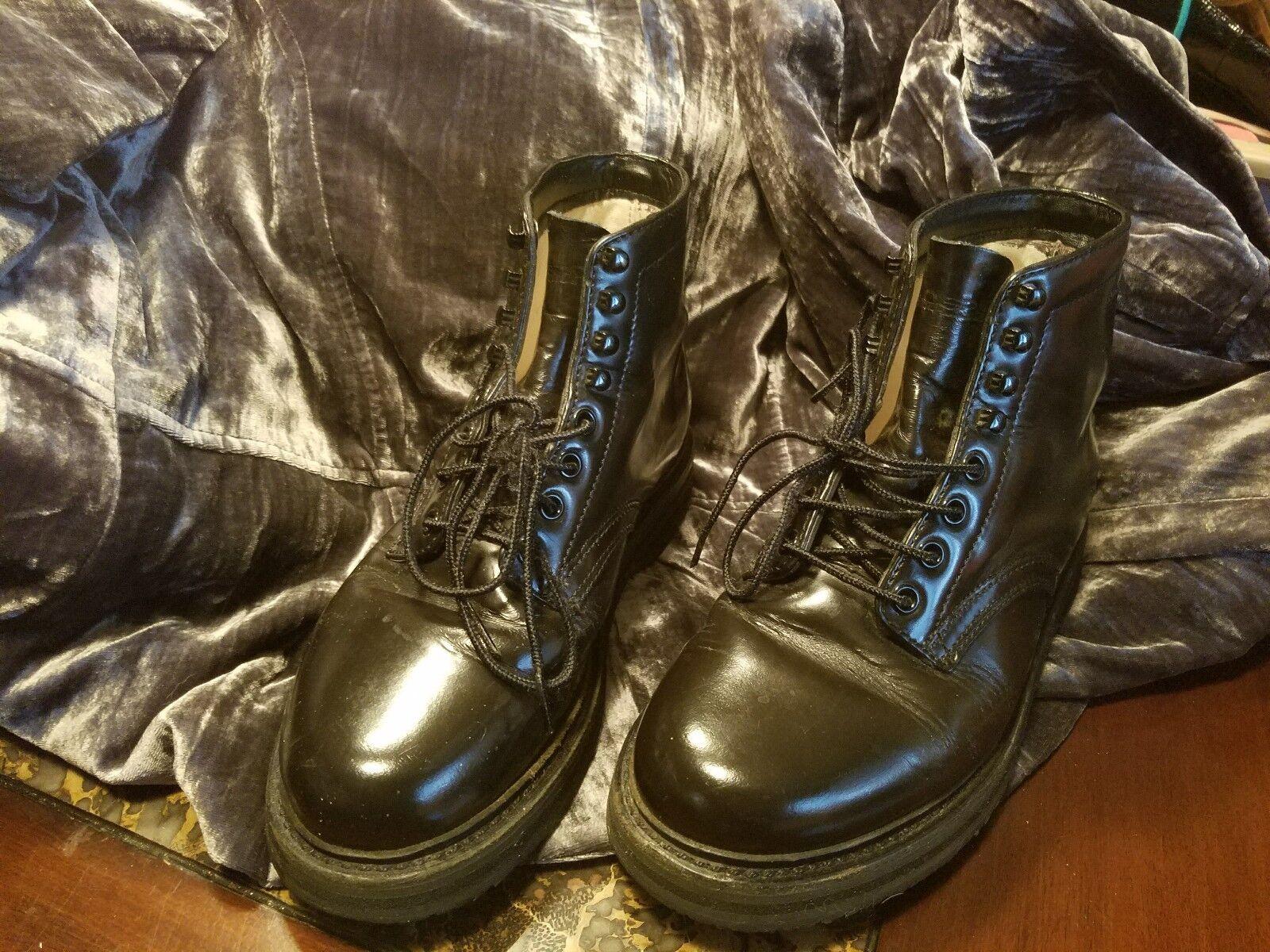 Ralph Lauren Polo Sport Negro botas De Combate, gran calidad, cómodos,...