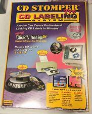 Vintage New Sealed Cd Stomper 3d Pro Label Labeling System Design Print Apply