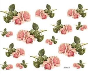 VinTaGe IMaGe XL BRiGhT YeLLoW RoSeS SHaBbY DeCALs TRaNsFeRs ~FurNiTuRe SiZe~