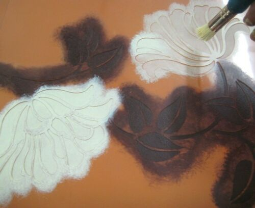 Fabrics and Crafts Flower Stencil Border for Walls Poppy Stripe Wall Stencil