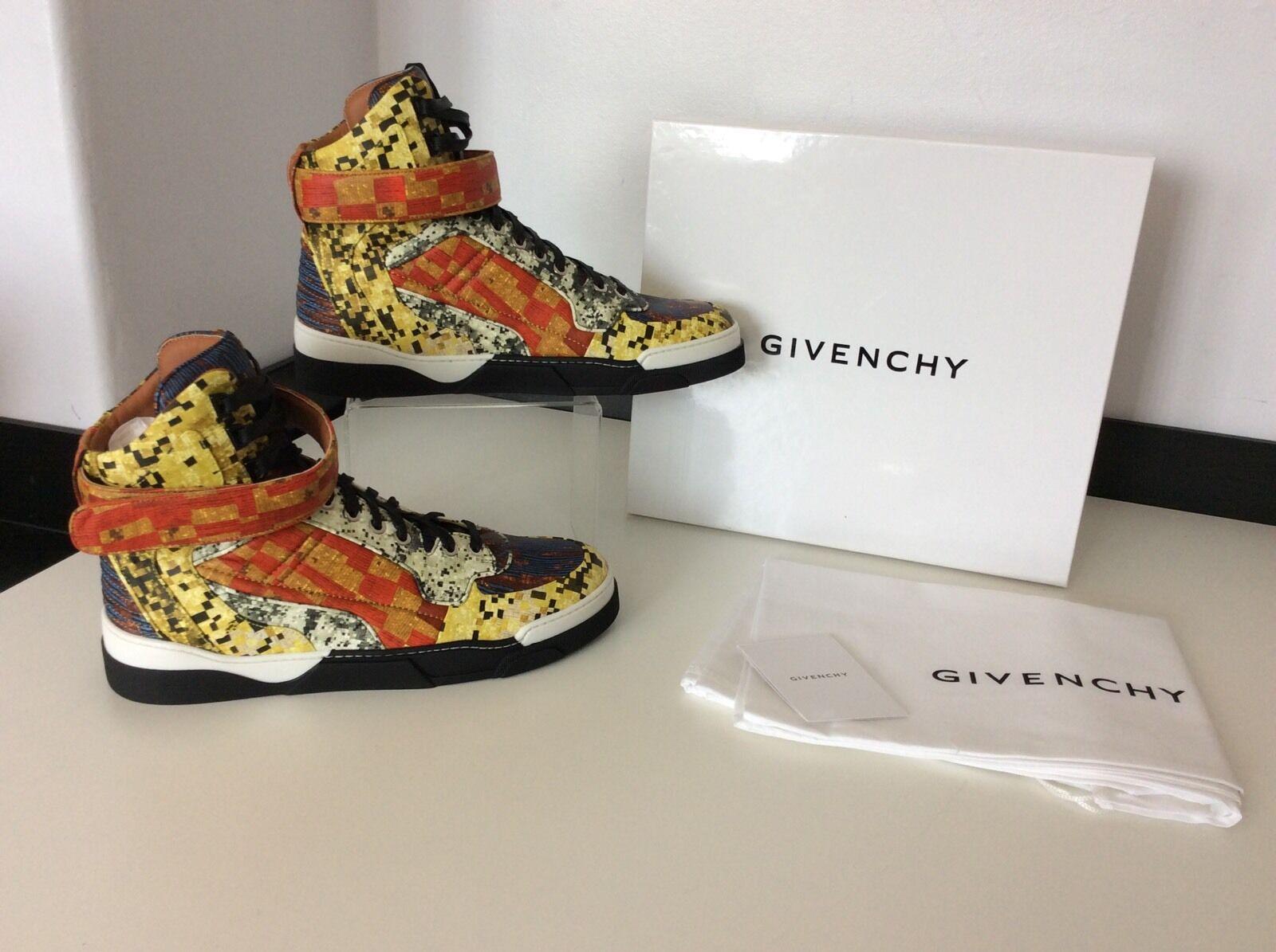 Givenchy Tyson Haute Multicolour high Top Sneakers Eu40 RRP  NEW