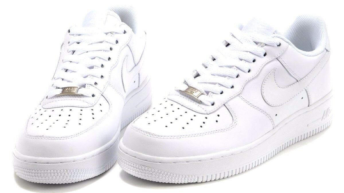 Nike Air Force 1 One All White 315122-111 Original Shoes Uomo