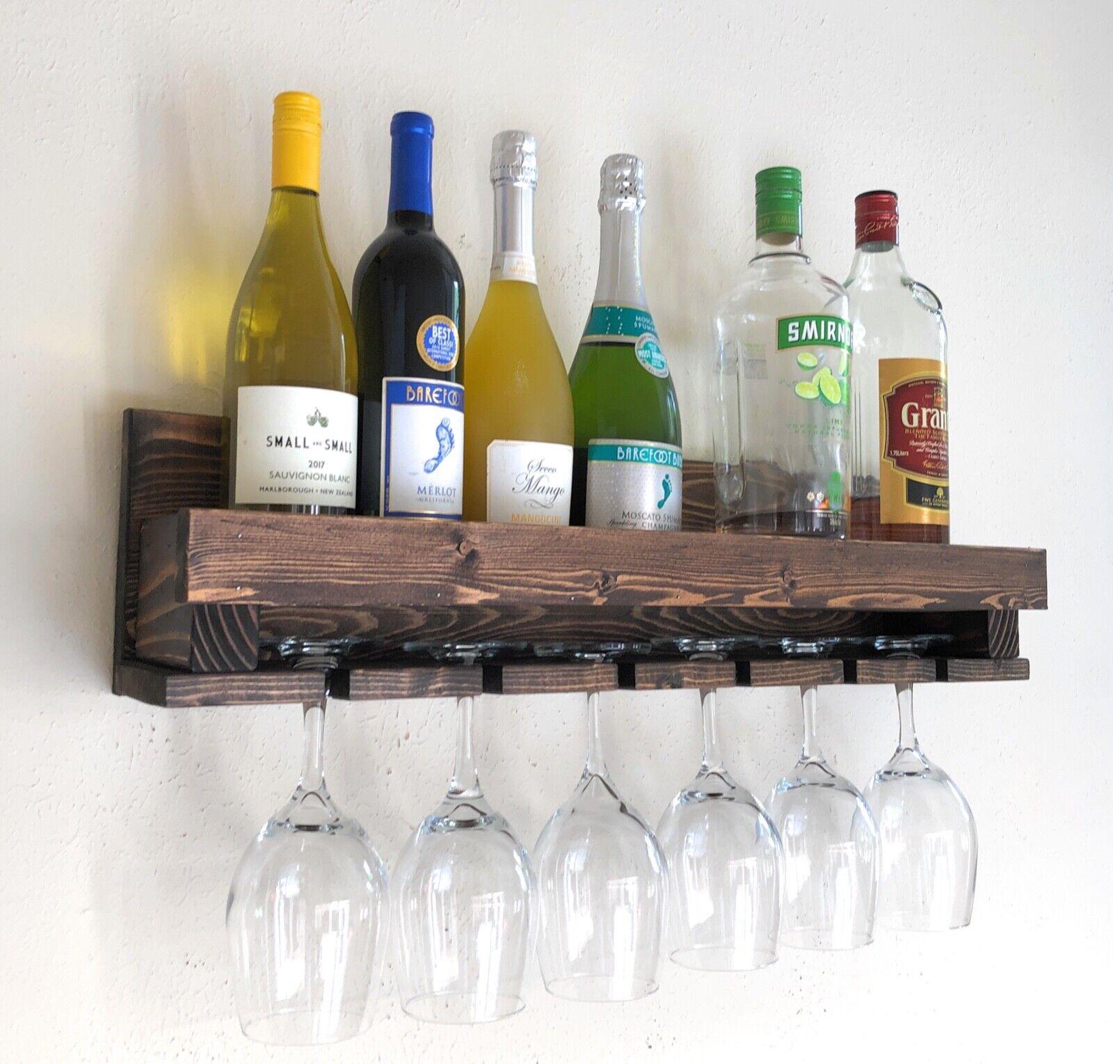 Woodymood casier à vin, porte-verre, Verre étagère, Moderne Mural Vin étagère