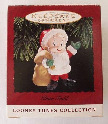 Hallmark 1993 Elmer Fudd Santa Claus Looney Tunes Collection Christmas Ornament