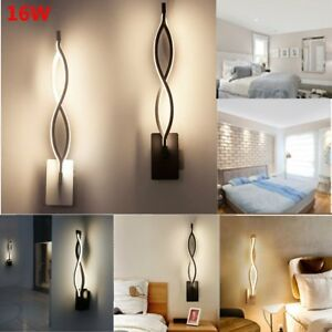 Details About Modern Minimalist Wall Lamps 16w Led Wall Sconce Hallway Bedroom Bedside Lamp Us