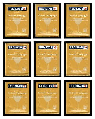WINE YEAST 10 PACK RS CHAMPAGNE RED STAR PASTEUR BLANC  FRUIT SHINE SODA & CIDER