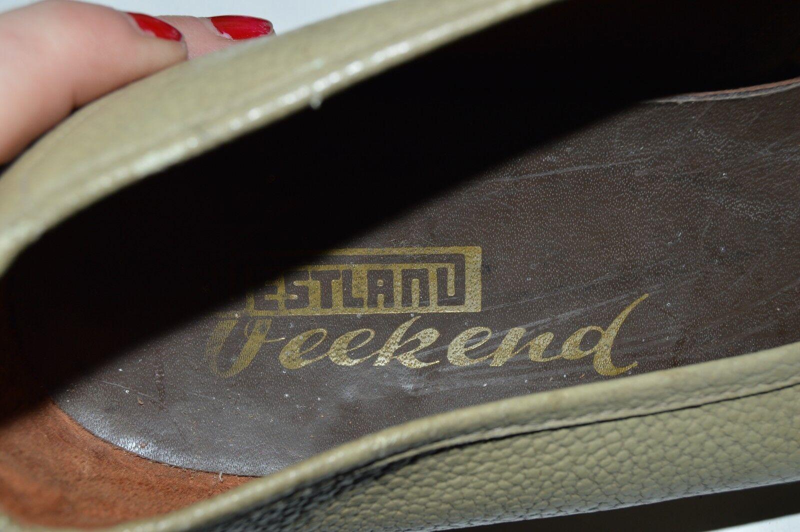 Herren Slipper Vintage Westland Weekend 60er TRUE Vintage Slipper Grün Halbschuhe UK 10,5 Schuhe 93e3eb