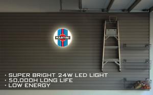 Martini Racing LED ILLUMINATED SIGN, WALL MOUNTED LIGHT BOX for Garage, Man Cave