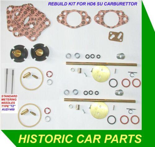 Rebuild Kit /& Metering aiguilles pour 2 su HD6 Glucides sur DAIMLER 2.5 250 V8 1964-69