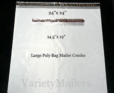 """5 POLY BAG POSTAL MAILING 19/""""x 24/"""" 2.5 Mil SELF-SEALING LARGE SHIPPING ENVELOPES"""