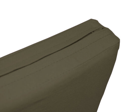aa200t Army Green Cotton Canvas 3D Box Sofa Seat Cushion Cover*Custom Size*
