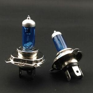 2pcs H4 P43t Car Halogen Xenon 12v 60 55w White Light Bulbs 6000k