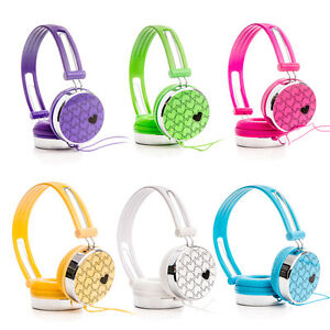 Love-Heart-Kids-Childs-Boys-Girls-DJ-Headphones-for-Cell-Phones-Tablets-DVD-iPod