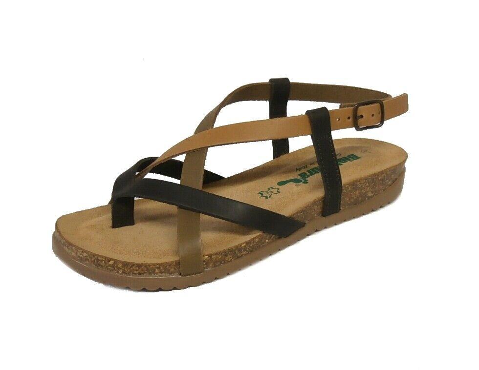 Bionatura sandalo infradito 34A2005 pelle gaucho multi cognac made in