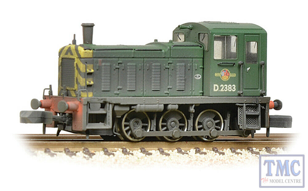 371-063 Graham Farish N N N Gauge Class 03 D2383 BR verde (Wasp Stripes) - Weatherosso a6772d