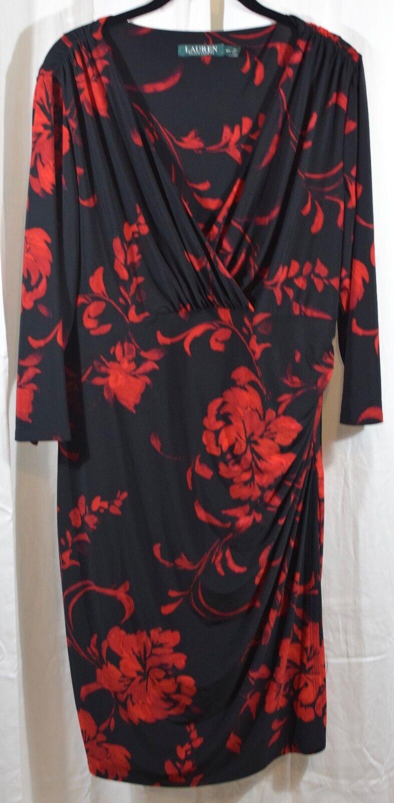 Lauren Ralph Lauren Floral Printed Jersey Dress Size 16W