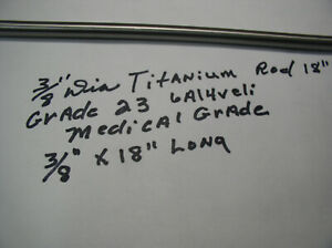 "12/"" LONG MEDICAL GRADE 23 POLISHED 5//16/"" TITANIUM ROUND ROD BAR 6 AL-4VELI 1 pc"