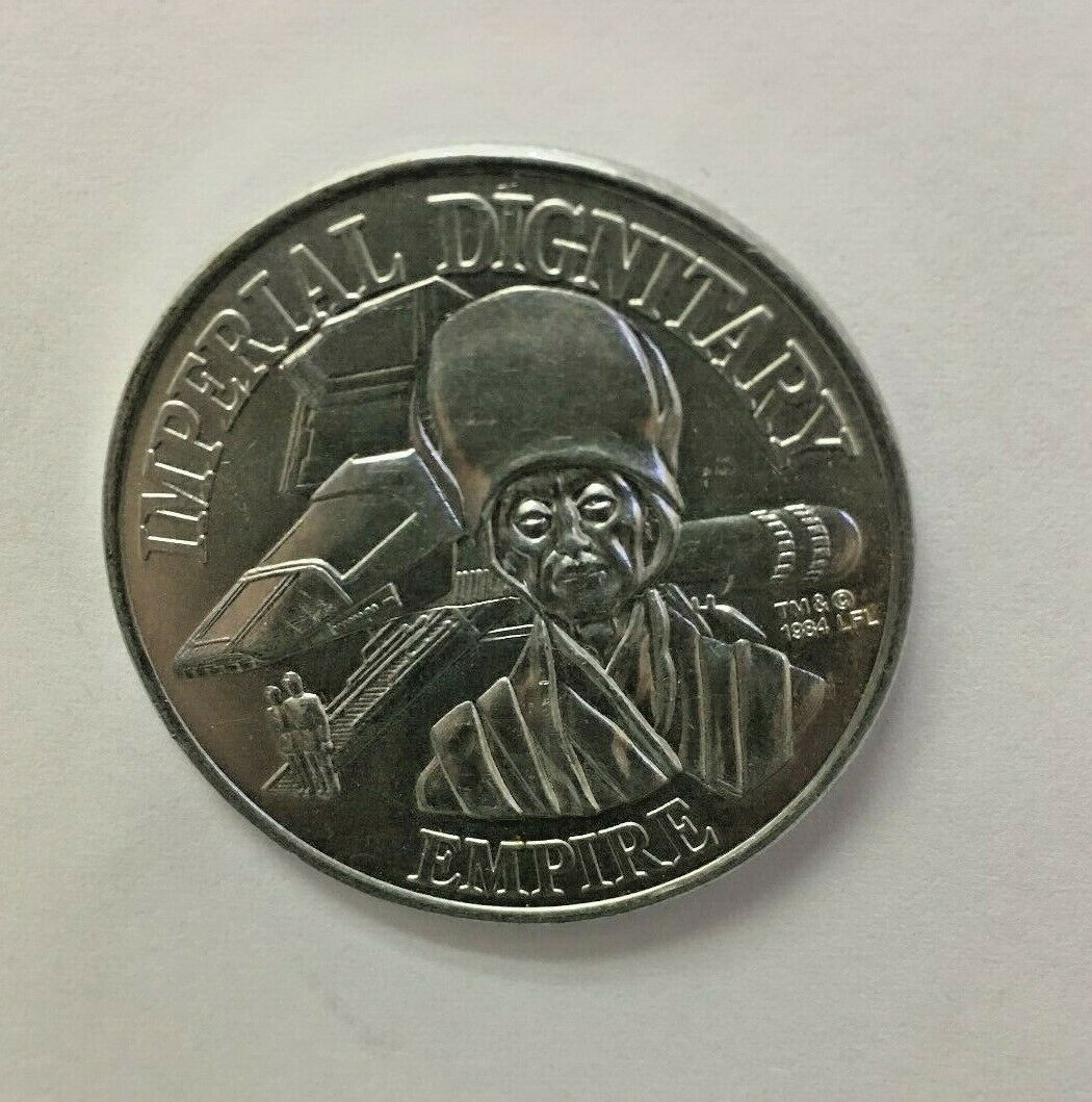 Star Wars Imperial Dignitary Empire Coin Aluminum 1984 Mail Away Coin Kenner