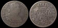 pci757) SPAIN  Carolus IIII DEI G 4 Reales 1791 MADRID  MINT Uncleaned