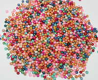 wholesale Mixed Pastel Colours GLASS PEARL Round BEADS 4mm 500pcs