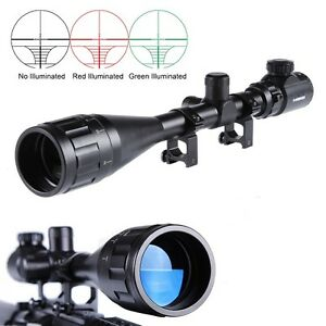 Hunting-6-24x50AOEG-Red-Green-Rangefinder-Optical-Scope-Sight-W-Mounts-For-Rifle